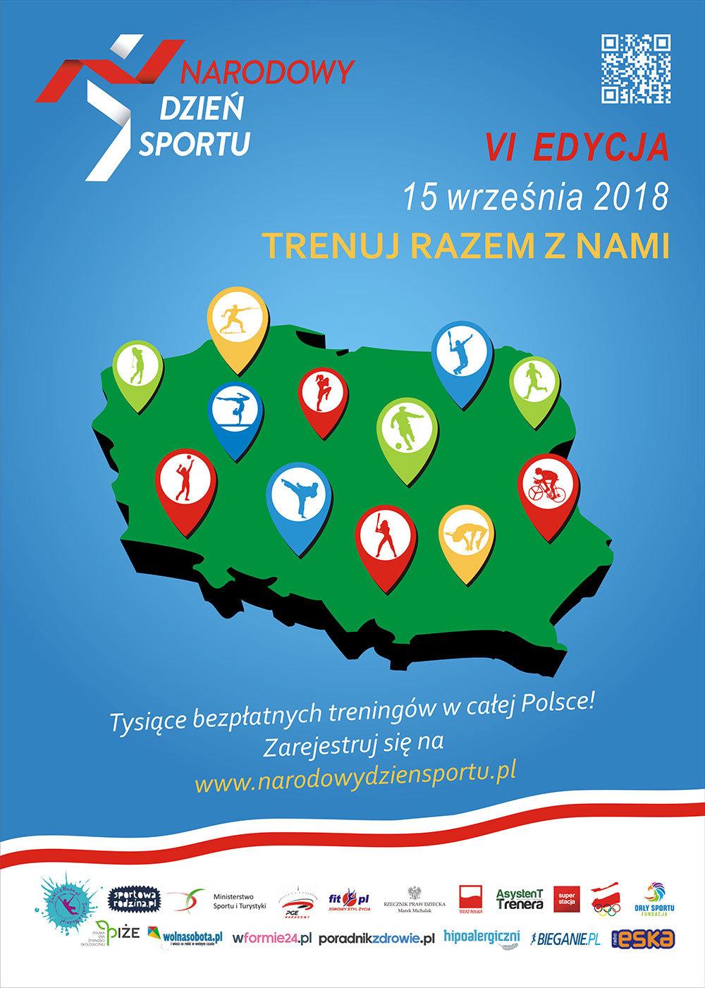 Narodowy Dzień Sportu - plakat